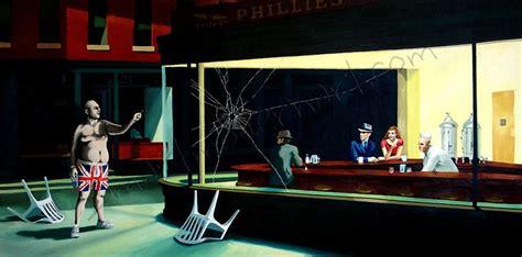 search  edward hoppers nighthawks diner art