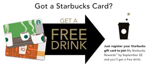 Sign Up And Get Free Gift Card - my starbucks rewards sign up get a free drink at starbucks couponing 101