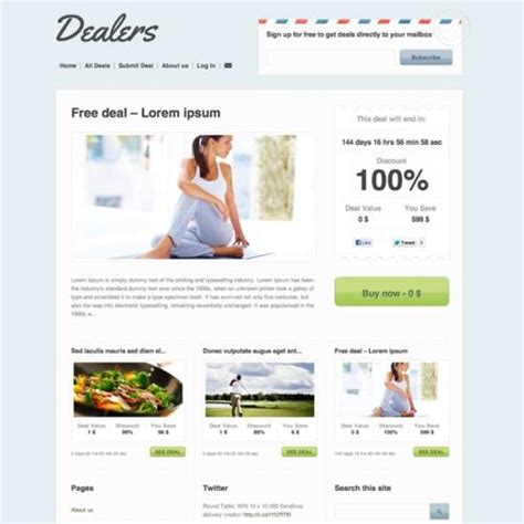 Download 125 Free Psd Website Templates Page 2 Of 2 Ginva Daily Deals Website Template