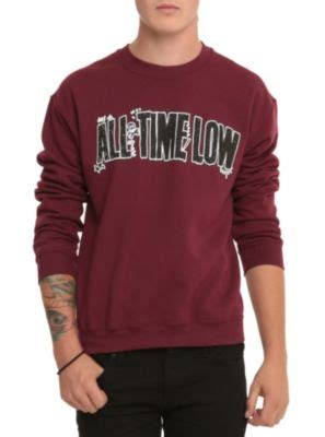 L521 Jaket Hoodie Jumper Yellow Claw Blood Fo Kode Pl521 5 all time low logo crew pullover omfg i want it i will you forever wishlist