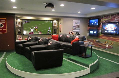 Check out these man caves there is no better place to watch the redskins beat the cowboys 1st