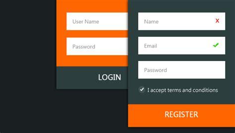 orange mobile login login register design webone