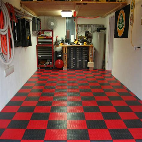 Home Garage Flooring   Snap Coin Garage Tile, Plastic