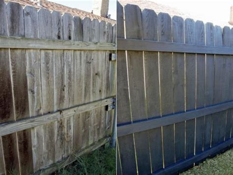 painting  staining  fence easier
