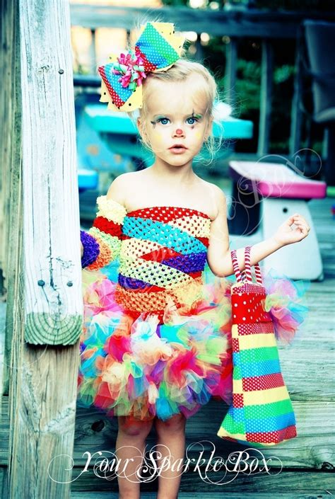 Costumes Handmade - clown costume petti tutu set plus legwarmers and bow via