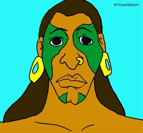 imagenes de los hombres mayas dibujo de hombre maya pintado por azteca en dibujos net el