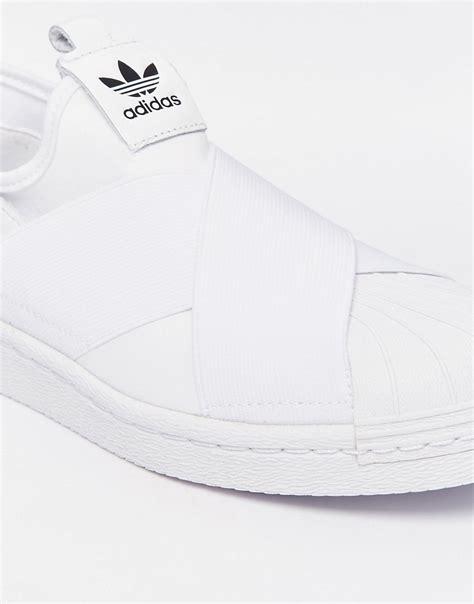 Adidas Superstar Slipon Mesh White inexpensive adidas originals superstar slip on white sneakers white no tax