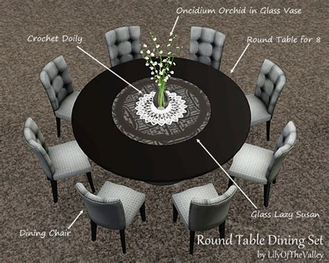 Round Dining Room Sets For 4 by Lilyofthevalley S Round Table Dining Set