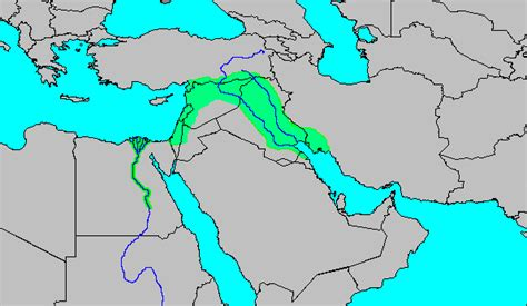 middle east map fertile crescent middle east rivers