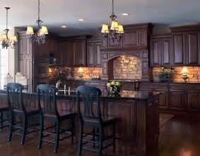Kitchen Backsplash Ideas For Dark Cabinets backsplash idea for dark cabinets the kitchen design