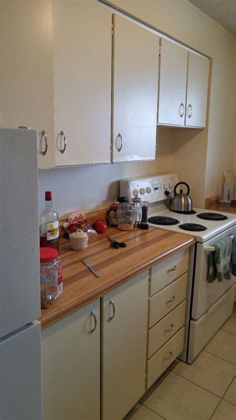 a renter wants to brighten up boring kitchen 2 days later this makeover is