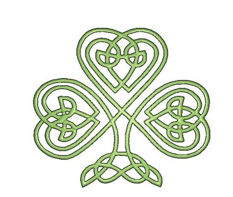 celtic shamrock embroidery patterns embroidery pattern