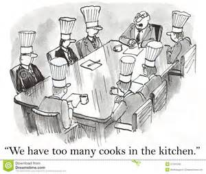 2d Kitchen Design We Have Too Many Cooks In The Kitchen Stock Photography