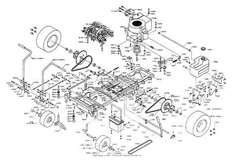 dixon mower parts diagram dixon ztr 3301 1994 parts diagram for chassis assembly