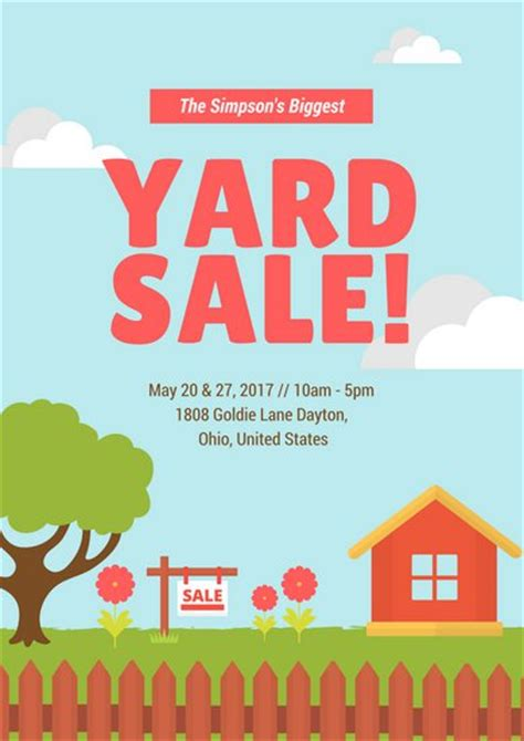yard sale template beautiful garage sale poster template vignette exle resume ideas fashionforlifesl org