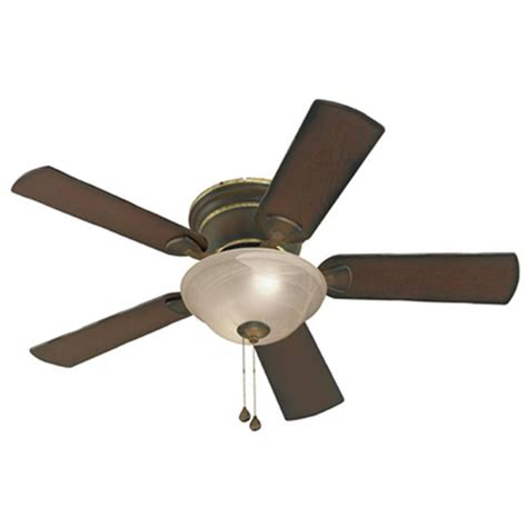 Indoor Ceiling Fan With Light Shop Harbor Keyport 44 In Walnut Indoor Flush Mount Ceiling Fan With Light Kit At Lowes
