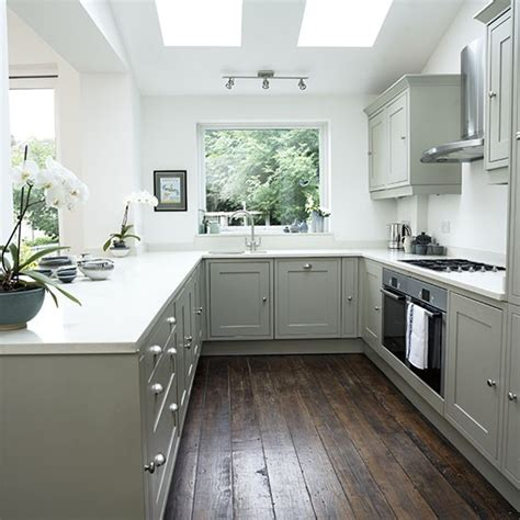 pale grey kitchen cabinets white shaker style kitchen with grey units decorating