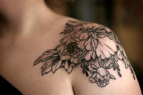 flower shoulder cap tattoo 83 wonderful flowers shoulder tattoos