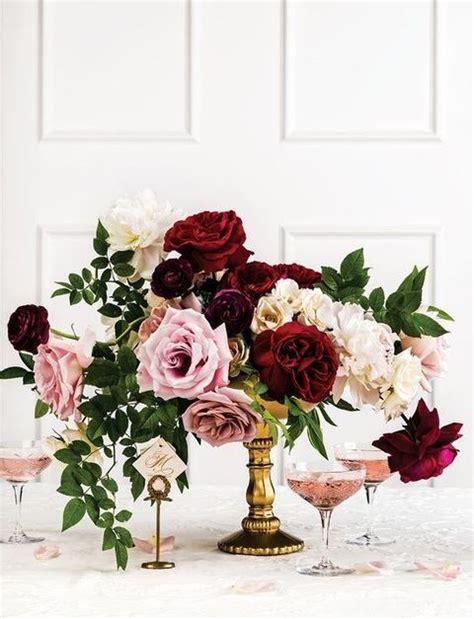 42 refined burgundy and blush wedding ideas happywedd floral decor wedding