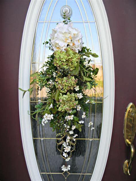 teardrop vertical spring summer door swag wreath decor