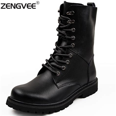 mens casual motorcycle boots botas high quality genuine leather martin boots