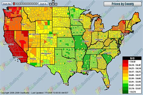 map of us gas prices heat map of u s gas prices snow