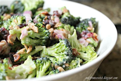 only from scratch broccoli salad