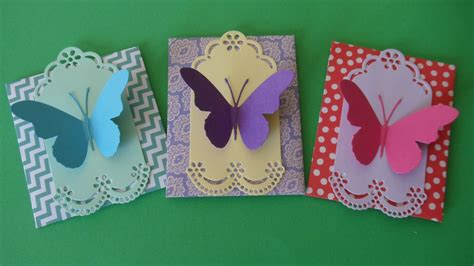 Paper Butterfly Craft - paper craft butterfly gift envelopes