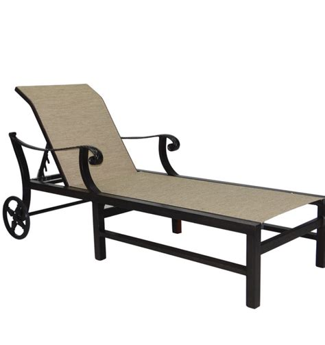 Sling Chaise Lounge Chair by Bellagio Sling Chaise Lounge Castelle Luxury Outdoor
