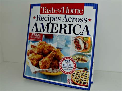 taste of home cookbook 2013 taste of home recipes across america cookbook is a must have