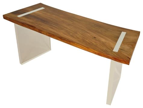 Reclaimed Wood Floating Desk Solid Teak Contemporary Modern Wood Desk