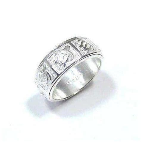 Sterling Silver Turtle Honu Ring sterling silver 925 hawaiian honu turtle spin spinning