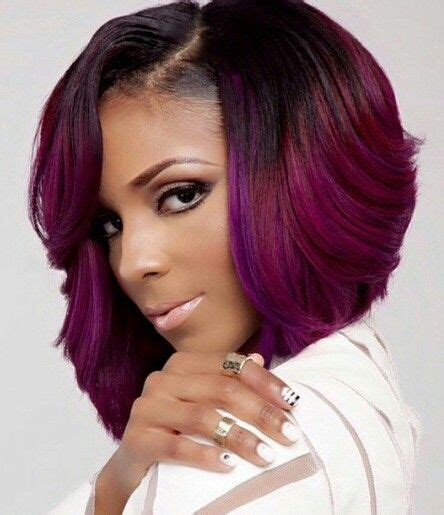dyed bob hairstyles magenta purple dyed bob hairstyle cute hair colors