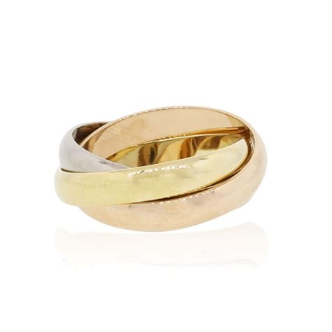 tri color gold ring cartier 18k tri color gold ring