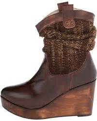 bed stu bruges bed stu slouchy sweater boots in brown black motif lyst