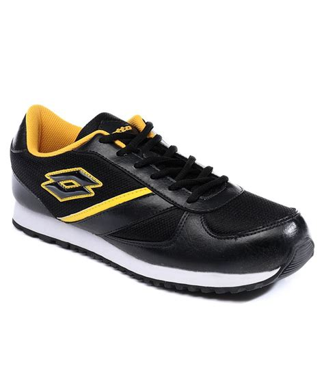shoes sports lotto black sport shoe price in india buy lotto black