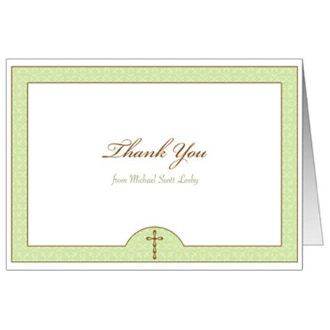 confirmation thank you card template wintergreen communion thank you card