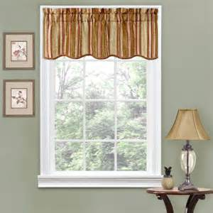 Scalloped Valances For Windows Decor Traditions By Waverly Stripe Ensemble Scalloped Window Valance