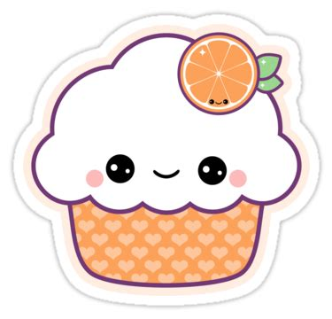 Vinyl Home Decor by Quot Cute Orange Cupcake Quot Stickers By Sugarhai Redbubble