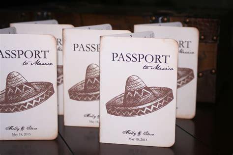 mexico wedding invitations mexican passport wedding invitations chic shab design studio inc