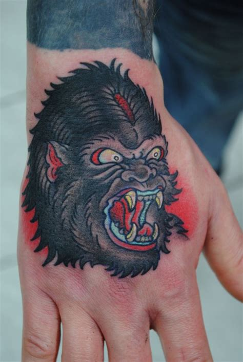 traditional gorilla tattoo gorilla tattoos