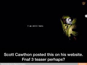 Scott cawthon posted this on his website fnaf 3 teaser perhaps