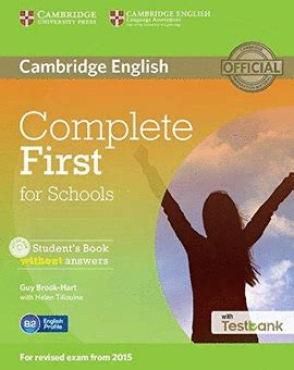 libro complete first students book complete first for schools student s book without answers librer 237 a cient 237 fica