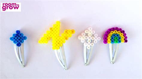 perler bead hair clips youtube