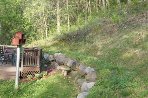 Uphill Backyard Landscaping by Sloping Backyard Design Help