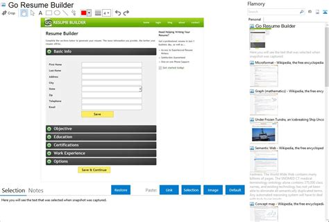 Go Resume by Go Resume Builder Integration With Flamory
