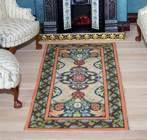 miniature carpet for dolls house william morris arts and
