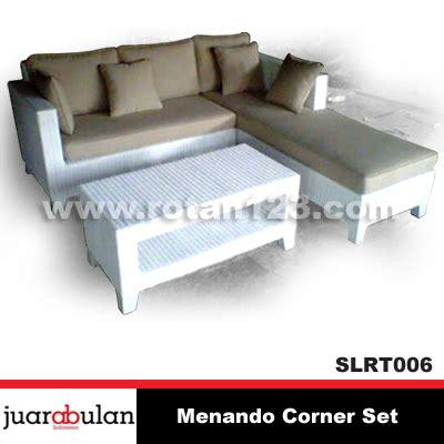 harga jual menando sofa l corner set rotan sintetis