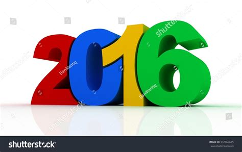 new year 2016 white background new year 2016 text 3d on white background stock photo