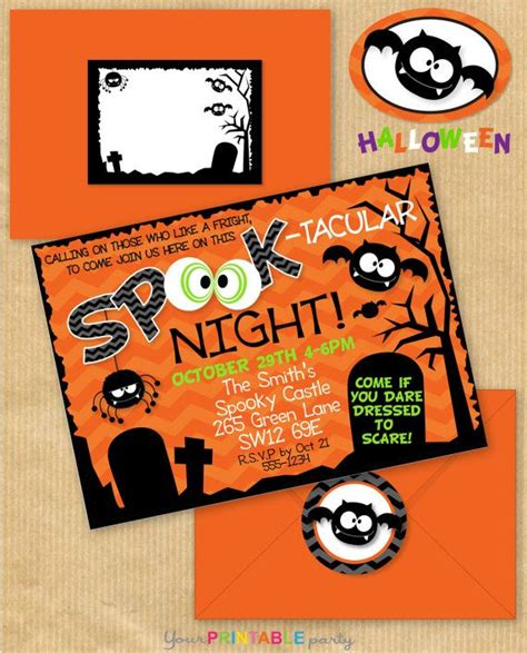 printable halloween address labels 12 best images about halloween invitation on pinterest